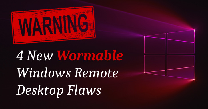 windows rdp wormable vulnerability