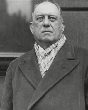 The Edwardian occultist Aleister Crowley.