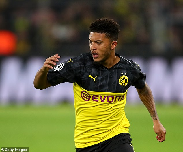 Jadon Sancho insisted he was happy at Borussia Dortmund amid interest from elsewhere