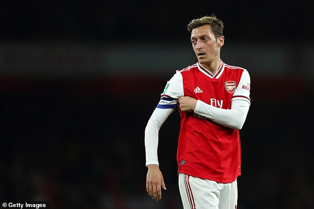 Arsenal will look to get rid of Ozil in January but it is feared he is happy to stay with his wages