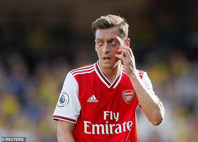 Ozil has played just 142 minutes so far this season - he has cost Arsenal £342 per second