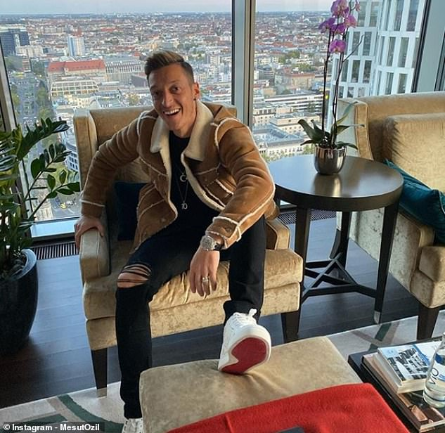 Ozil, pictured Tuesday on Instagram, will aim to force a way back after the international break
