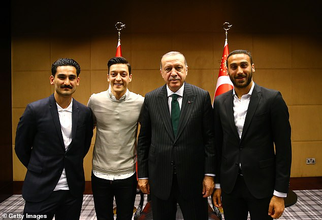 Ozil was criticised for having his photo taken with Turkey's president,Recep Tayyip Erdogan