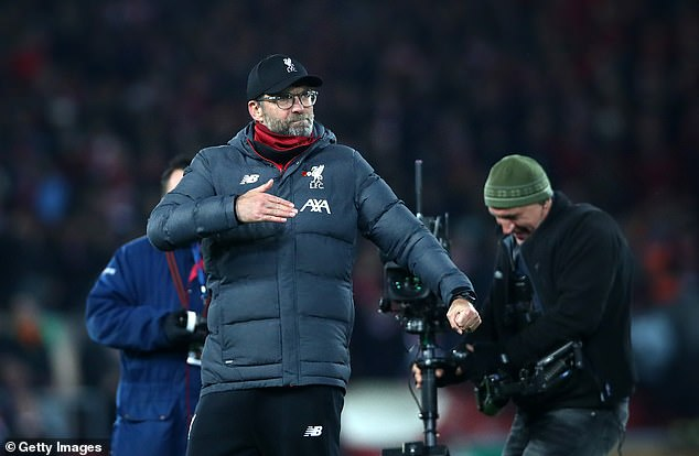 The Liverpool boss was also overjoyed with the football on display from his side at Anfield