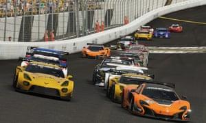 Burning virtual rubber … Gran Turismo Sport.