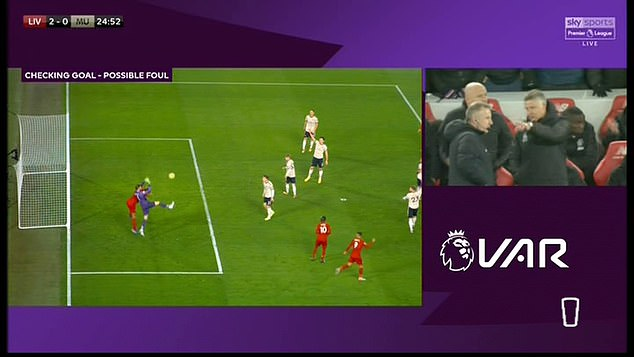 The challenge split opinion in the Sky Sports studio as van Dijk barely touches the keeper