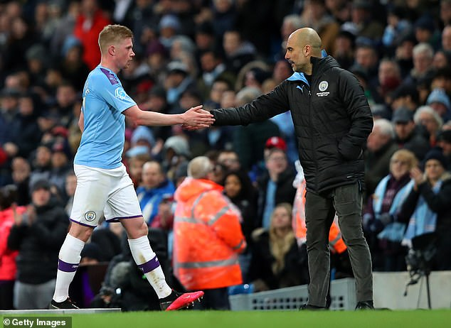 Kevin de Bruyne says this season reminds him of Pep Guardiola's first season in Manchester