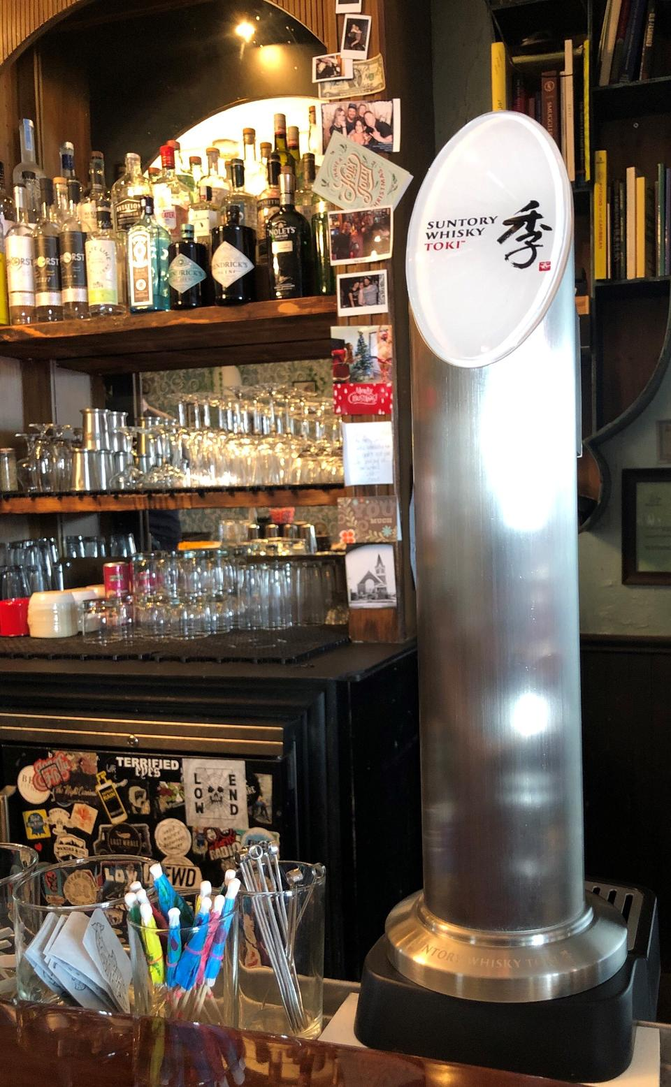 The new highball machine at Lost Whale is usually stored right underneath the bar.