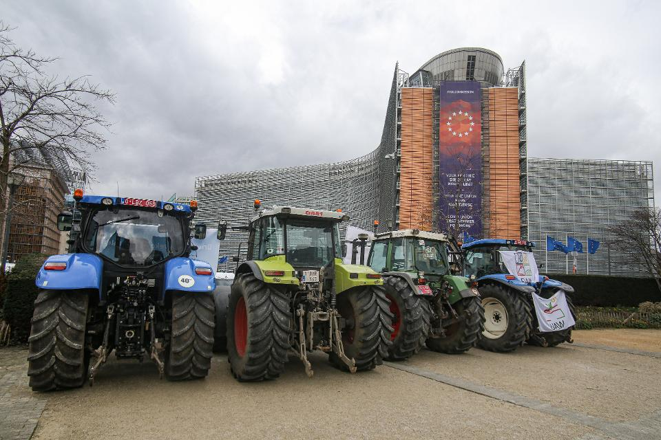 Farmers And Milk Producers Protest In Brussels