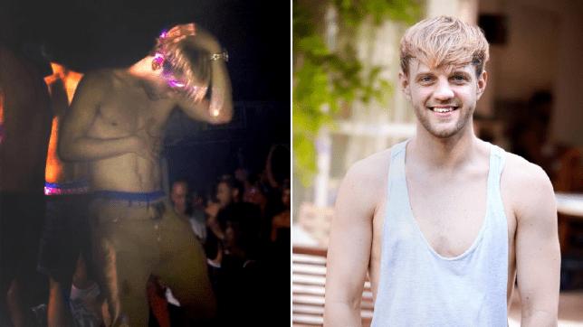 Split image of Denholm Spurr before and after