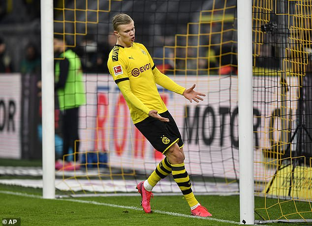 Erling Haaland was brought on from the bench in the second half but couldn't find a goal