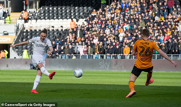 Luke Ayling scored after just five minutes when his 25-yard shot deflected off a defender