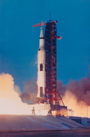 the apollo 13 rocket lifts off from launch pad a of the kennedy space center, cape canaveral, florida, 11 april 1970