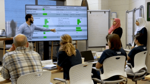 Kareem Elassy presents using monitor