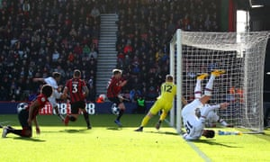 Marcos Alonso of Chelsea scores his sides first goal.