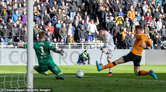 Pablo Hernandez was played in and the Spaniard coolly slotted home the visitors' second goal