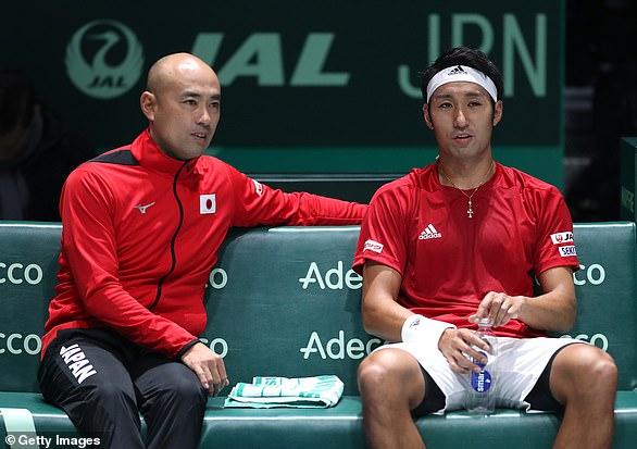 Japan's Davis Cup team has seen the match with Ecuador next week put behind closed doors