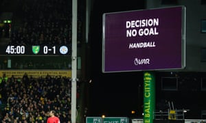 Leicester City goal is overturned by VAR.
