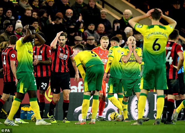 Meanwhile, Norwich are rooted to the bottom of the table and are 55 points behind Liverpool