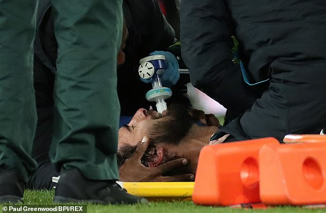 The midfielder was given oxygen and adrenaline which he says made him feel 'mad'
