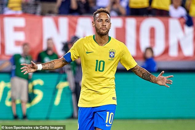 Neymar is already Brazil's third highest scorer of all-time and has over 100 international caps