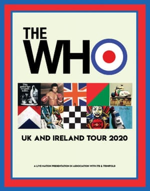The Who's tour poster