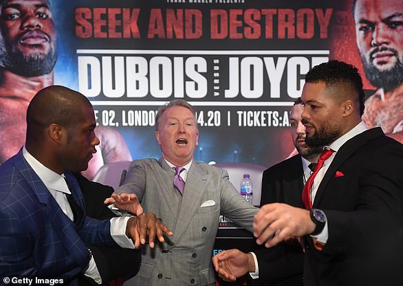Daniel Dubois and Joe Joyce's Battle of Britain has been pushed back from April to July