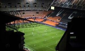 Valencia hosted Atalanta on 10 March behind closed doors.