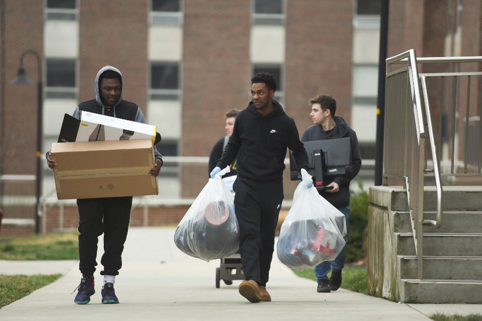 Students Move Out Of Kutztown University Amid Coronavirus Concerns
