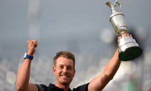 Stenson with the Claret Jug after winning the 2016 Open.