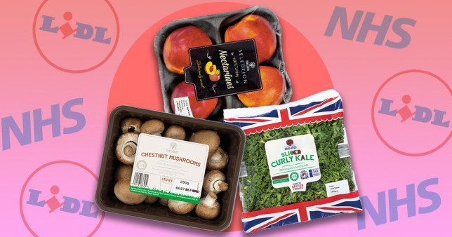 Lidl fruit and veg bags for NHS staff