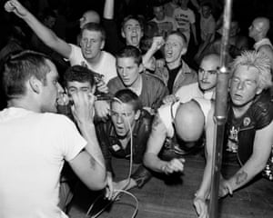 'It was mainly anarcho-punk bands' … the view from the stage.