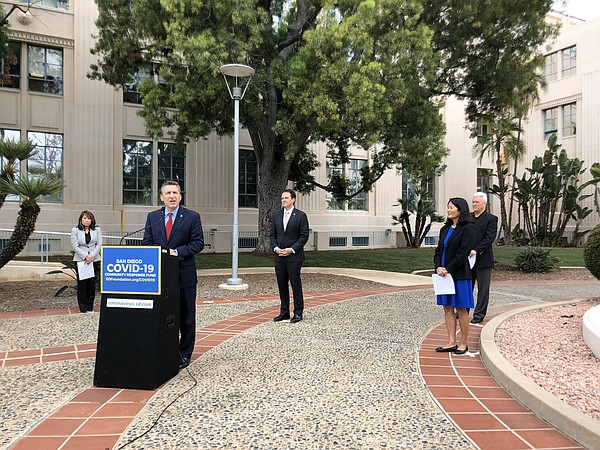 San Diego county leaders announcing the launch of the San...