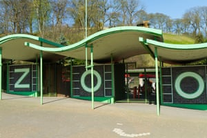 Entrance to Dudley Zoo West Midlands UK