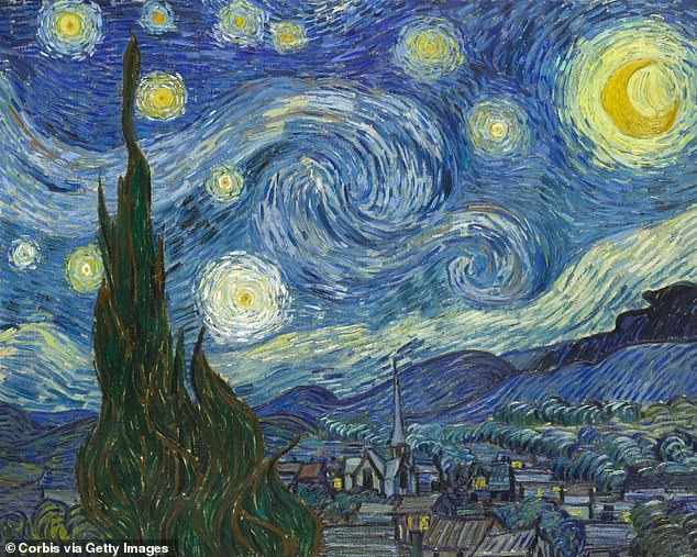 Pictured is Vincent van Gogh's famous painting 'Starry Night'
