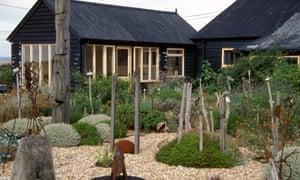 'My garden's boundaries are the horizon': Derek Jarman's garden on the beach at Dungeness in Kent.