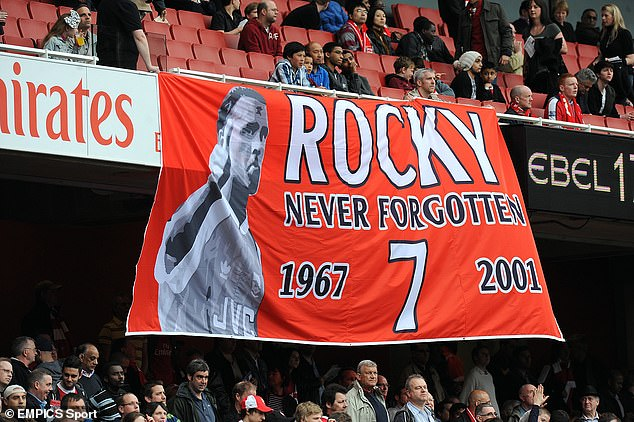 The midfielder, nicknamed 'Rocky', is remembered very fondly by Arsenal supporters
