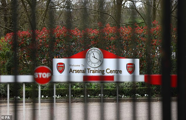 Arsenal, like most football clubs, have been forced to close their training ground