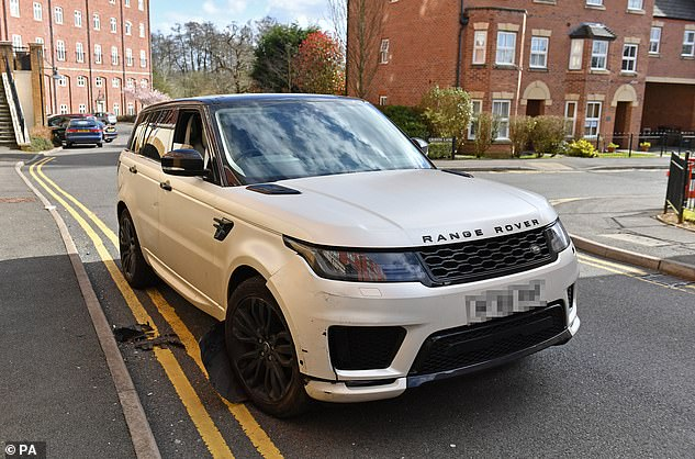 Police are investigating the crash involving a white Range Rover on Sunday morning