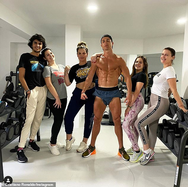 Ronaldo has been in isolation with his family in Madeira during the coronavirus crisis