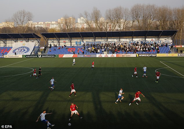 A match in the Belarusian Premier League is played last weekend - Belarus is the only football league in Europe that has continued amid the pandemic