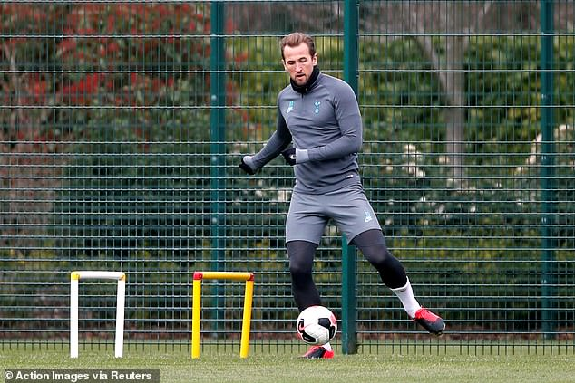 Kane revealed that he should be able to return to full training when Tottenham are back