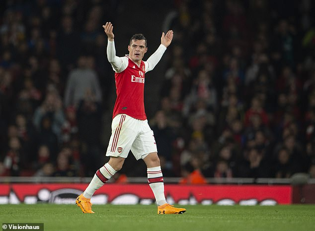 Granit Xhaka was involved in a furious bust-up with Arsenal fans at the Emirates in October