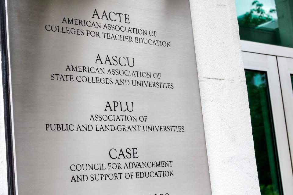 Washington DC, AACTE AASCU APLU CASE, Association Colleges Teacher Education, State Universities Public Land-Grant Council Advancement Support