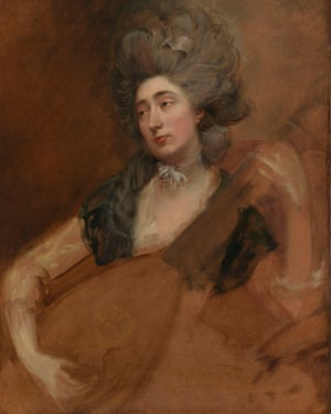 Portrait of Margaret Gainsborough holding a theorbo by Thomas Gainsborough.