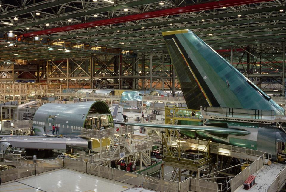 Rather than being built, aircraft is being put into storage by the thousands