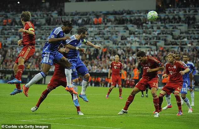 Drogba headed in Chelsea's late equaliser from a corner delivered by Juan Mata